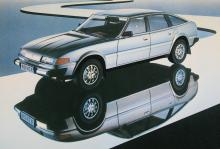 """Rover 3500, Årets bil 1977, """"den nya bilen från Leyland"""". """"Rover-ingenjörernas svar på dina krav heter förfinad enkelhet."""""""