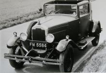"""""""Light Six"""" blev en succé i slutet av 20-talet. Den raka sexan gav bilen en toppfart på 110 knutar."""