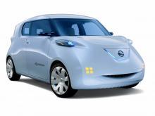 Elbilarna Nissan Townpod (bilden) och  Renault Zoe ZE har båda begränsade glasytor för bättre isolering av kupén.