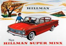 Super Minx-serien debuterade 1962 och vid den tiden såldes Hillman i 163 länder!