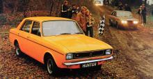 1973 hade det gått så långt att ägaren Chrysler International kallade bilarna för Hunter; Hillman-namnet var pensionerat.