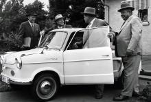 Ett synligt bevis på att Tyskland var på väg att återhämta sig efter kriget: NSU Prinz från 1958.