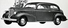 1938 firade Oldsmobile sina första 40 år med bland annat denna 95-hästars coach-modell.