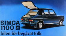 Simca 1100 var uppskattad, bland annat för sin framhjulsdrift. Omkring två miljoner byggdes!