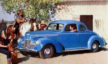 """""""Den överlägsna vagnen i den låga prisklassen"""" kallades Studebaker av importören Gjestvangs. 1939 såg den tvåsitsiga Champion-coupén ut så här."""