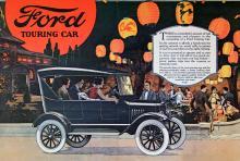 Tingeltangel med modell T. Så här såg 20-talets T-Fordar ut. Annonsen är från 1923.