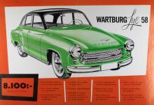 1958 års Wartburg-lyx bestod i vita däcksidor och flashiga blanklister.  8 100 kr kostade kalaset.