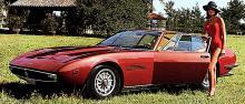 Ghibli, en jättecoupé från Maserati. V8-motor och byggd 1967–73 i 1274 ex varav 125 Spider, dvs öppna.