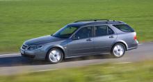 Saab 9-5 SportCombi, årsmodell 2008.