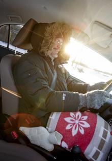 För att spara energi körde vi utan kupévärme.