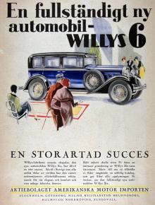 Den som 1930 läste Idrottsbladet kunde lätt förledas att köpa sig en 6-cylindrig Willys. Såväl Willys som Overland var populära märken i Sverige där vi gärna köpte amerikanskt på 20- och 30-talen. 1930 byggdes drygt 65000 Willys inklusive systermärket Whippet.