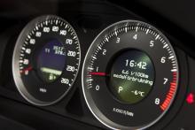 BÄST. Färddatorn i Volvo V60 blev bäst i test med en felmarginal på tre procent. I displayen visas 6,6 l/100 km, medan den faktiska förbrukningen låg på 6,8 l/100 km.