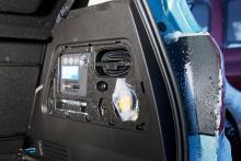 Istället för reservdäck har Opel Meriva en reparationssats, prydligt förpackad bakom panelen i lastutrymmet.