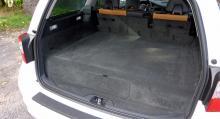 Så ser bagageutrymmet ut i Volvo V70 Bi Fuel i dag.