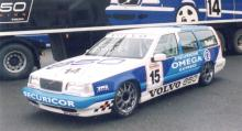 En ovanlig racerbil, Volvo 850, som Rickard Rydell tävlade med i BTCC 1994.
