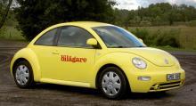 Utgående Volkswagen New Beetle.