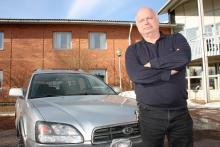 Anders Lundqvist, hotellägare, kör Subaru både i jobbet och privat.