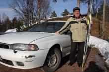 Rolf Rämgård tog som aktiv skidåkare dubbla OS-medaljer. Nu är Rolf dub- bel Subaru-ägare.