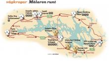 Karta: Vägkrogar runt Mälaren