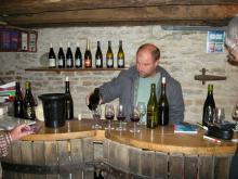 ... och på hemresan stannade vi och provade vin i Bourgogne.