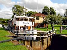 Kanalbåten Diana – känd från Sjöwall/Wahlöös första Beck-bok, Roseanna.