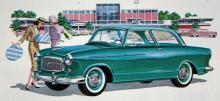 1960 års Rambler American Super 2-Door Club Sedan, den perfekta vagnen för hattshoppande hemmafruar, i varje fall om man får tro biltillverkaren.