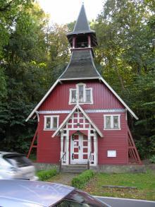 För tillfället tillbommad var denna lilla Schwedenkirche på Rügen.