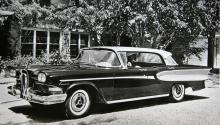 Så såg den första Edsel-årmodellen ut. Massor av kurvor och stöddiga dubbelstrålkastare, men vem kunde ana att nästan ingen ville ha bilen?