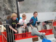 Attraktionerna i Legoland består av allt från att spruta vatten på oskyldiga kafégäster...