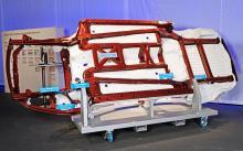 Nytt krockbalksystem med högre andel höghållfasthetsstål sparar upp till 50 kg vikt.