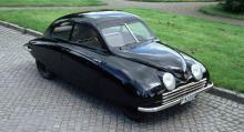 Kronjuvelen i Saabs bilsamling, den så kallade Ursaaben, den allra första bilen som Saab tillverkade.