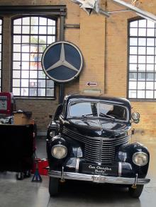 Opel Kapitän – en klassisk modell som nästan alltid finns på Meilenwerk.