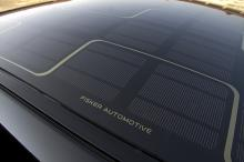 Takets solceller ger energi för 320 kilometer gratis och helt utsläppsfri körning per år.