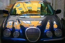 8:e pris: Bror Johansson. Ibland kan reflexer i lacken göra en vacker bil ännu vackrare.