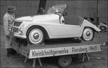 Kleinschnittgerwerke, det låter det! Bilen byggdes i Arnsberg några mil öster om Dortmund och spreds över världen.