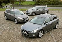 Storslukarna: Ford Focus kombi, Peugeot 508 SW, Hyundai i40