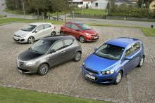 Smått och gott:Kia Rio, Lancia Ypsilon, Toyota Yaris, Chevrolet Aveo