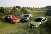 Körglädje på grönarbete: BMW 1-serie, Citroën DS4, Honda Civic