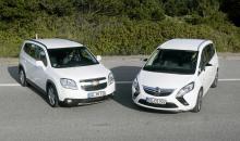 Årets familjebilar: Chevrolet Orlando, Opel Zafira