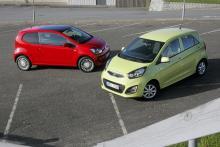 Maxade minibilar: Kia Picanto, Volkswagen Up