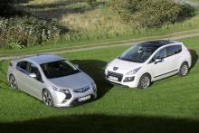 Strömlinjer: Opel Ampera, Peugeot 3008