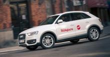 Q3 är Audis motsvarighet till VW Tiguan. Audis design ger en mer sluttande bakdel och därmed ett mindre praktiskt bagageutrymme.