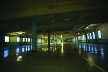 Saabs växellådefabrik i Göteborg. Helt tom eftersom maskinerna har sålts till Kina.