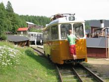 Mannaminne rymmer det mesta, bland annat en äldre spårvagn från Norrköping.
