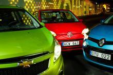 Spark, Up och Twingo. Fantasifulla namn på tre små bilar med helt olika karaktär. För testlagets del är det ingen tvekan om vilken som plockar flest charmpoäng.