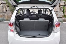 Med alla säten uppfällda återstår plats för 155 liter bagage.
