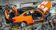 Den sista M3 Coupe:n monteras ihop.