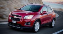 ...lillsuven Chevrolet Trax är två av bilarna som försvinner i Europa.