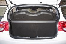 Bagageutrymmet klarar 252 liter vilket också är bra för en minibil.