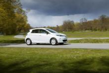 Renault Zoe delar vissa komponenter med Clio. Upp till 210 km räckvidd utlovas.